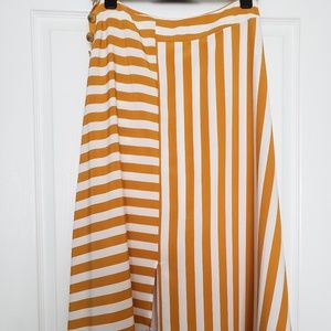 asymmetrical skirt directional stripe